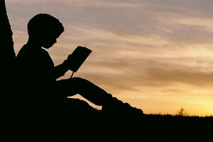 libros en el campo